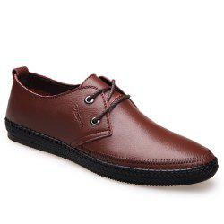 Leather Flat Bottomed Lounge Shoes -
