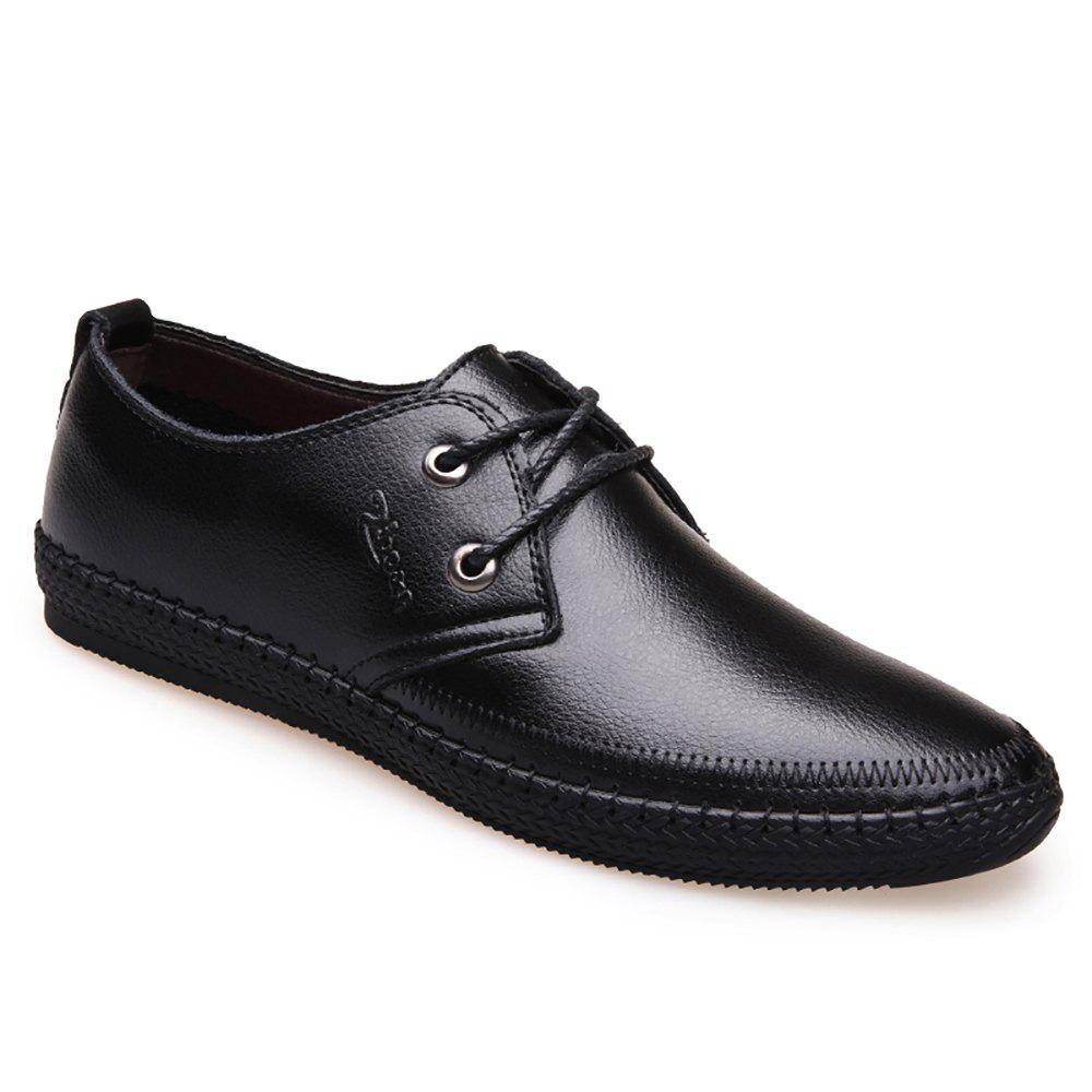 Fashion Leather Flat Bottomed Lounge Shoes