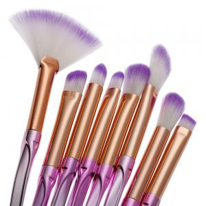 Ombre Color Spiral Screw Wavy Make-up Brushes 12PCS -