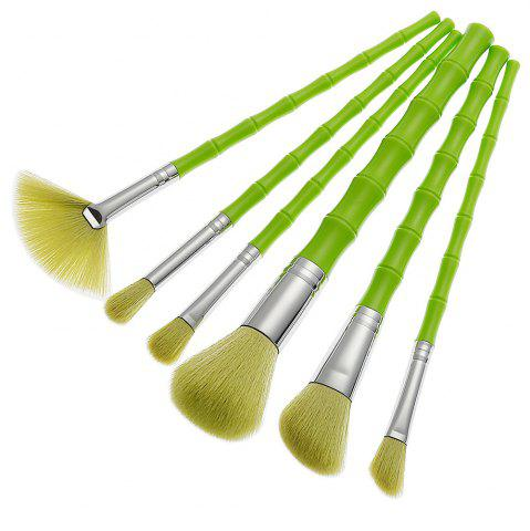 Outfit Green Bamboo Shape Brush 6PCS