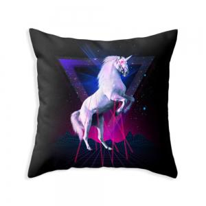 Black HorsePillowcase 45x45cm Sofa Cushion Cover -