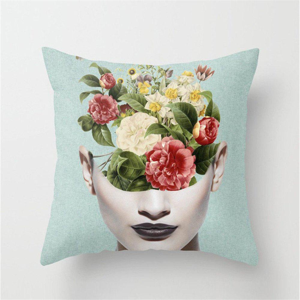 Online Sexy Women Pillowcase Sofa Cushion Cover Square Double-Sided Printing