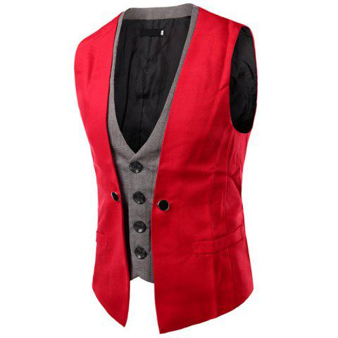 Outfits Men's New Lattice Fight Slim Casual Vest Jacket