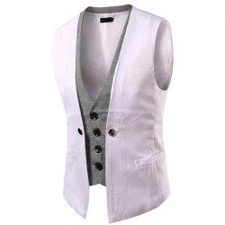 Men's New Lattice Fight Slim Casual Vest Jacket -