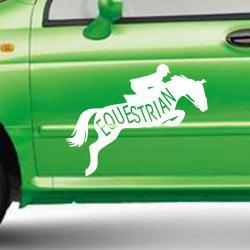 Boy Riding Horse Vinyl Car Sticker for Jids Family Decoration -