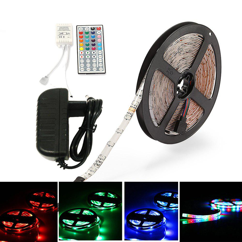 New ZDM Waterproof 5M 2835RGB LED Light Strip and IR44 Controller 12V/2A Power Supply AC100-240V