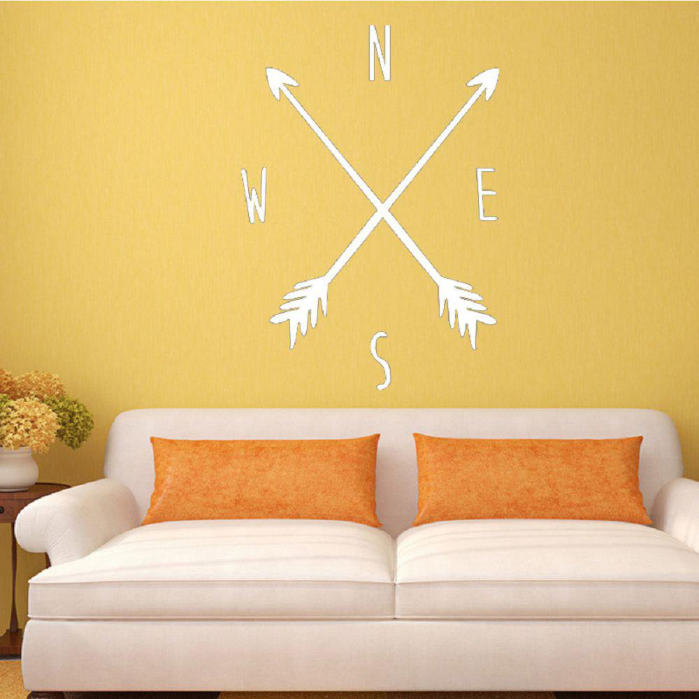 White 63.2 X 52.3 Cm Dsu Tribal Arrow Compass Wall Decal Removable ...
