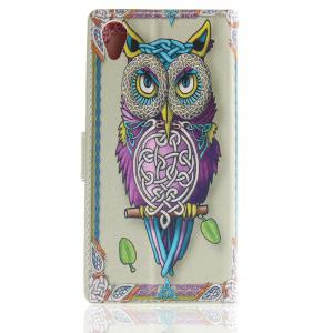 Cover Case for Sony XA1 Plus Colourful Brackets PU Leather -