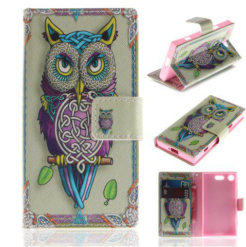 Latest Cover Case for Sony XZ1 Compact Colourful Brackets PU Leather