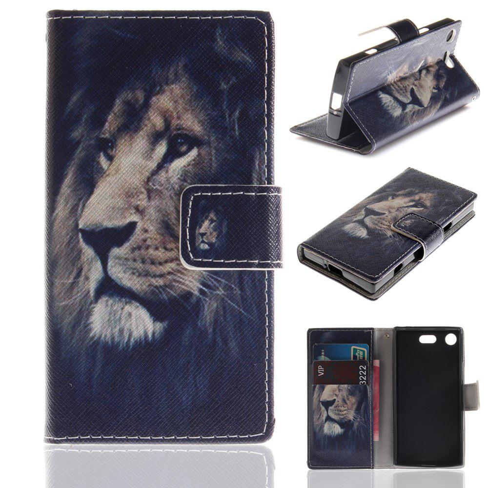 Unique Cover Case for Sony XZ1 Compact Colourful Brackets PU Leather