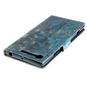 Cover Case for Sony XZ1 Colourful Brackets PU Leather -