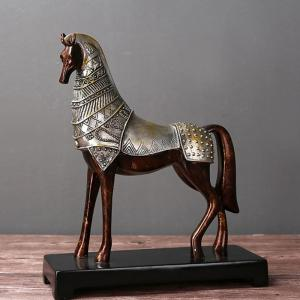 Rural Creative Crafts Imitation Bronze Horse Ornaments -