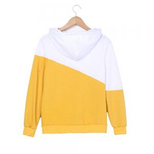 Color Matching Drawstring Hoodie -
