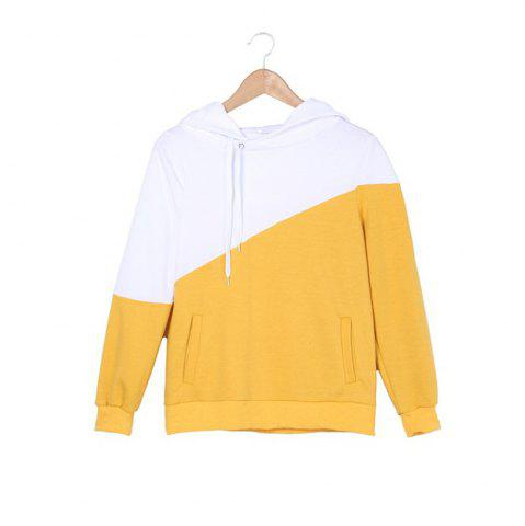 Shops Color Matching Drawstring Hoodie