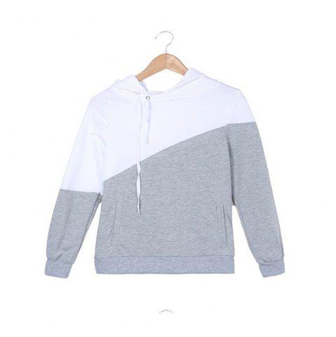 Outfits Color Matching Drawstring Hoodie