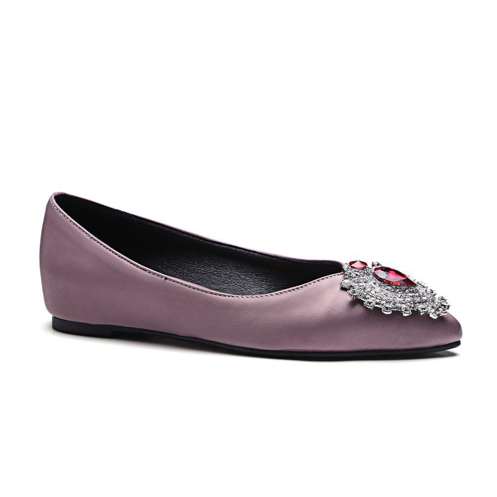 Trendy Women's Flats Colorful Rhinestone Pointed Toe Casual Stylish Shoes