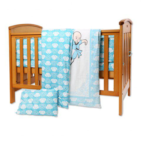 Discount I-Baby 9 Pcs Cotton Printed Crib Bedding