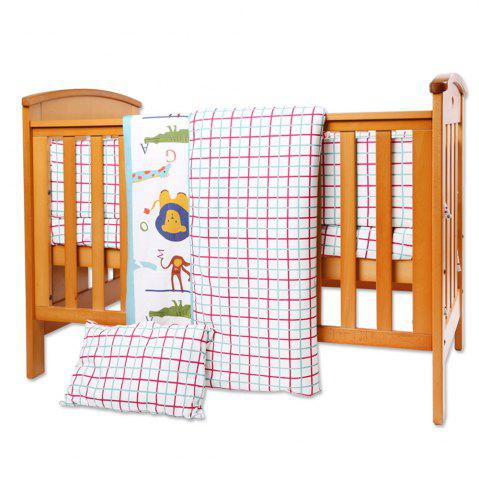 Best I-Baby 9 Pcs Cotton Printed Crib Bedding
