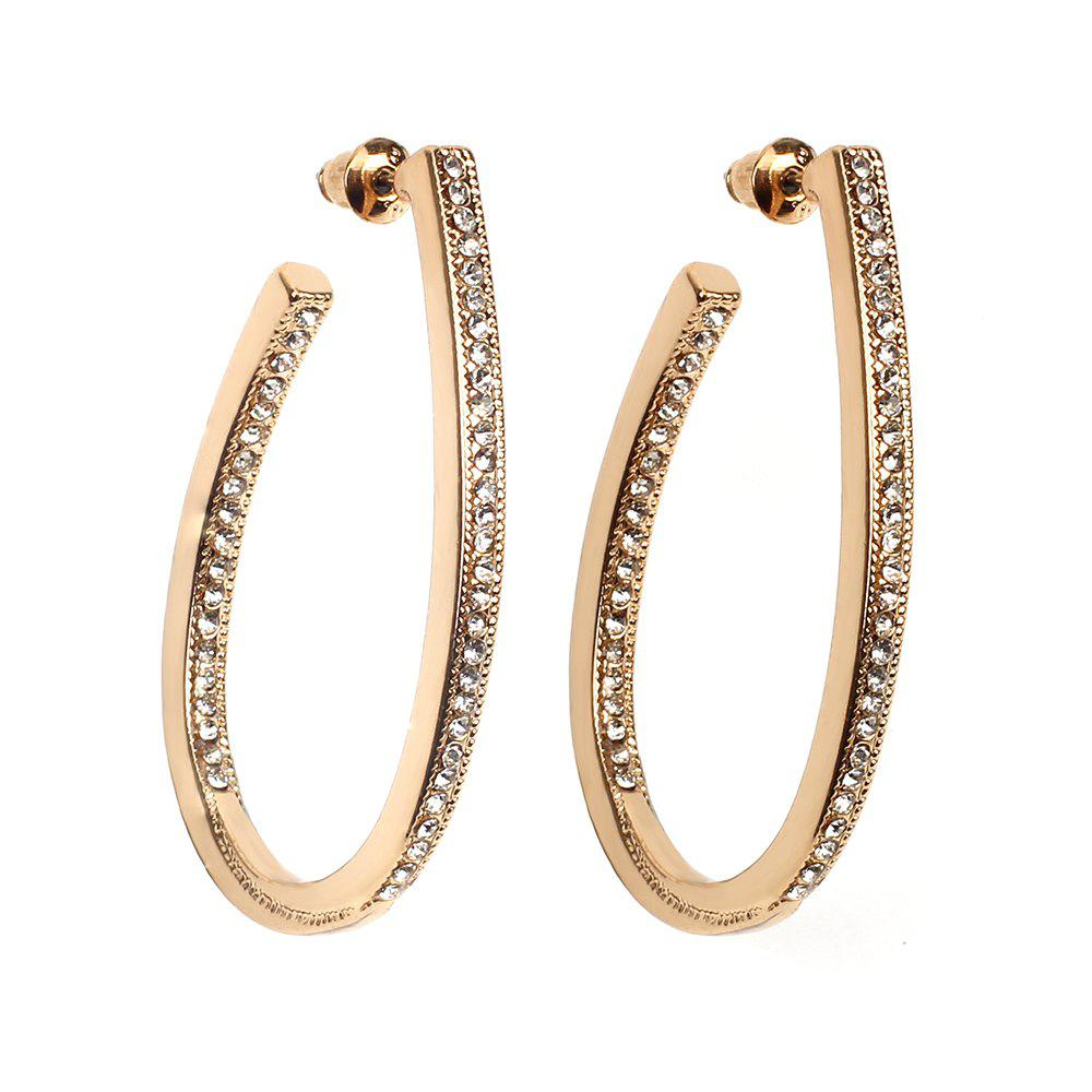 Online Geometric Diamond Personalized Wild Oval Earrings