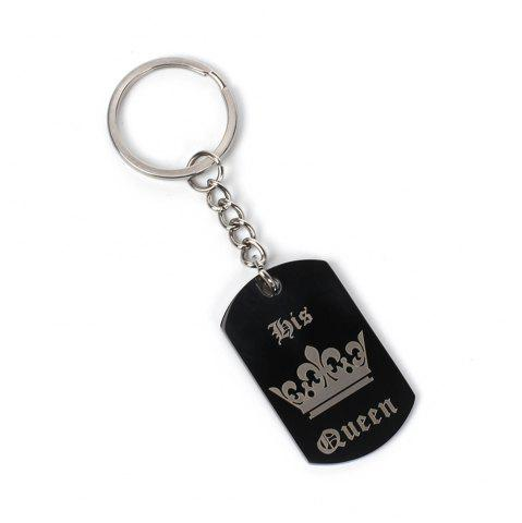 Store Creative Fashion Couple Crown Letter Key Chain