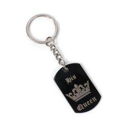 Creative Fashion Couple Crown Letter Key Chain -