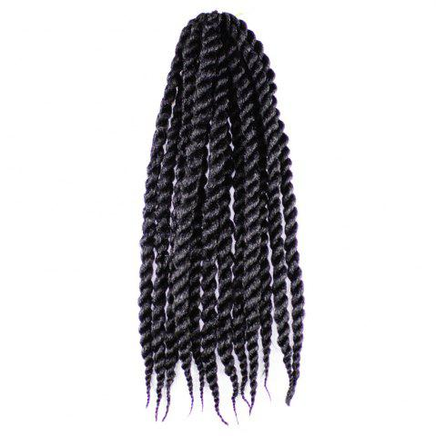 New One Pack 18 inch Havana Twist Crochet Hair Mambo Twist Synthetic Extension Natural Black