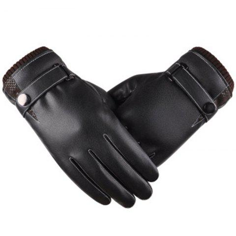 Outfit The New Hot Style Gloves Male Touch Screen Simulates Leather PU Wash Leather and Wool