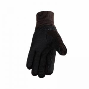 Male Winter Thickening and Wool Warm Pig Leather Gloves Leather Cycling Anti-Cold Wool Gloves -