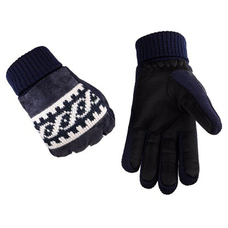 Buy Male Winter Thickening and Wool Warm Pig Leather Gloves Leather Cycling Anti-Cold Wool Gloves