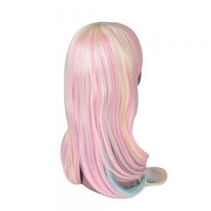 Hairyougo 7179 28 inch Long Straight Colorful Rainbow High Temperature Fiber Synthetic Wigs -