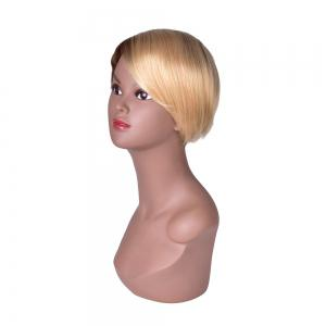 Hairyougo Short Straight Wig Black Blonde Ombre Rose Net Synthetic Women Hair -