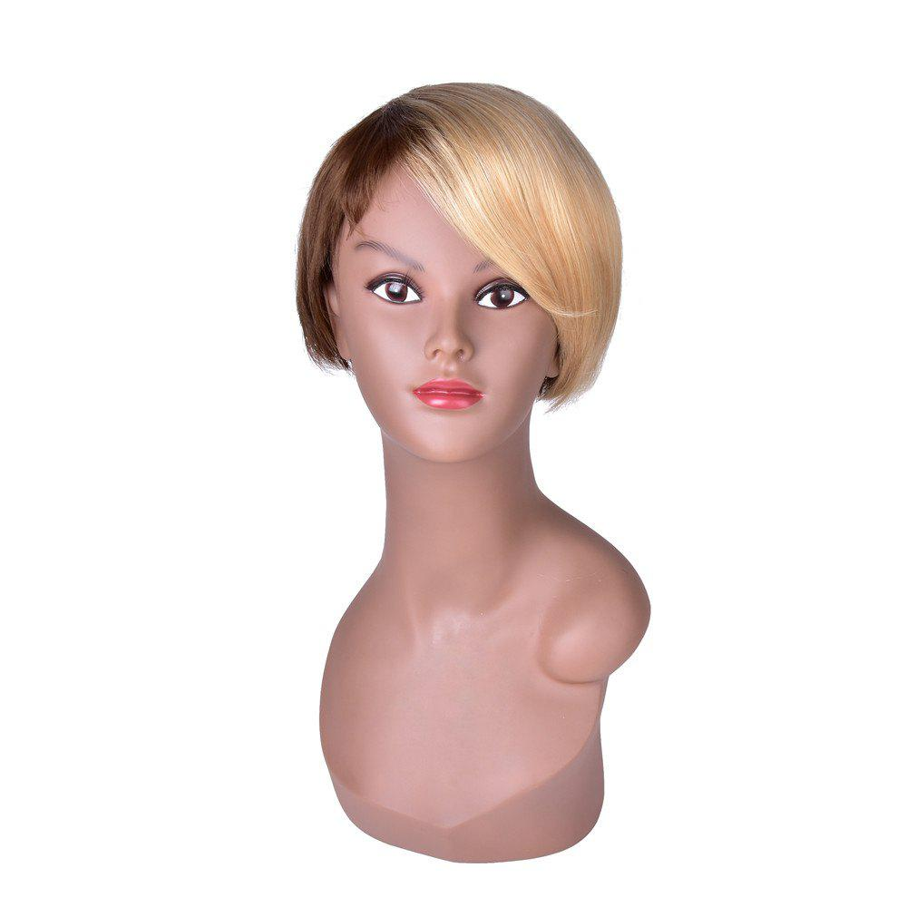 Shop Hairyougo Short Straight Wig Black Blonde Ombre Rose Net Synthetic Women Hair