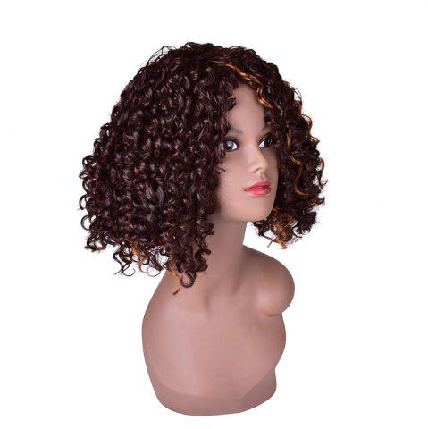 Outfits Hairyougo 0444 13 inch Afro Kinky Curly Medium Length High Temperature Fiber Wig