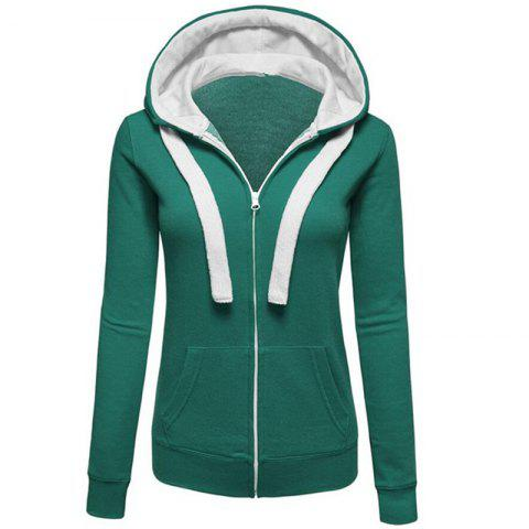 Shops Women's Causal Color Block Cardigan Zip Hoodies Outwear