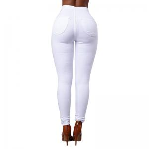 Pantalon long skinny couleur unie -