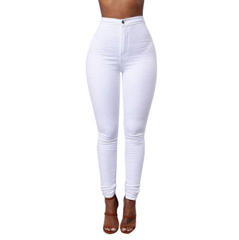 Pantalon long skinny couleur unie