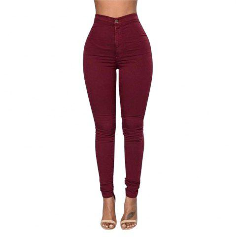 Shop Skinny Solid Color Long Pants