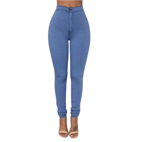Hot Skinny Solid Color Long Pants
