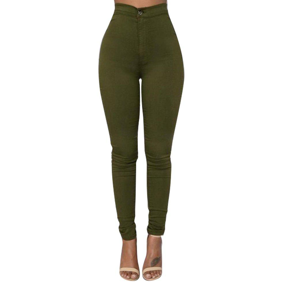 Latest Skinny Solid Color Long Pants