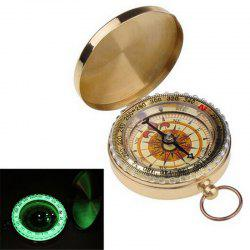 Camping Hiking Portable Brass Pocket Golden Compass Navigation for Outdoor Activities -