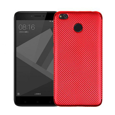 Outfit Cover Case for Redmi 4X Soft Electroplating Carbon Fiber Luxury TPU