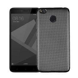 Cover Case for Redmi 4X Soft Electroplating Carbon Fiber Luxury TPU -