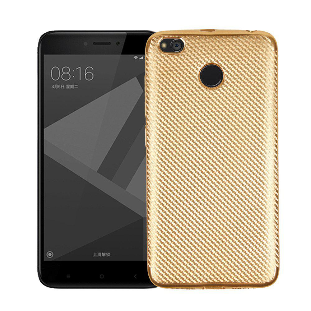 New Cover Case for Redmi 4X Soft Electroplating Carbon Fiber Luxury TPU