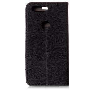 Cover Case for One Plus 5T Card Holder with Stand Flip Full Body Lines / Waves Hard PU Leather -