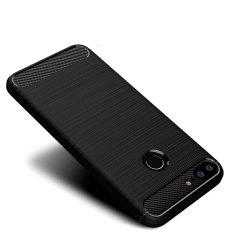 Cover Case for Huawei Honor 9Lite Shockproof Carbon Fiber TPU Drawing Material Phone -