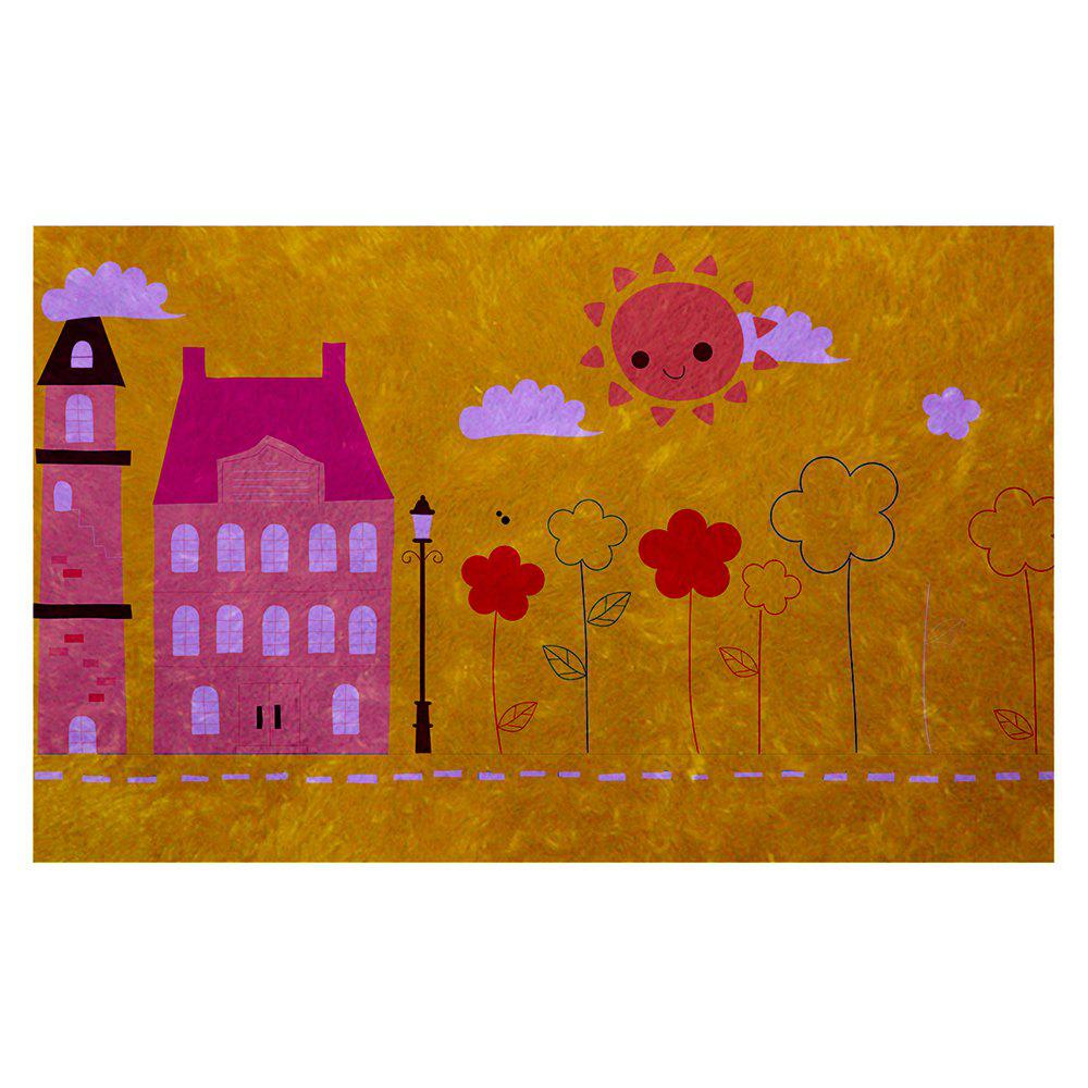 Chic Hand Painted Children's World Blanket Mats