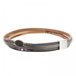 Hot Selling New Fashion Personality Trend Multilevel Cowhide Coloured Bracelet -