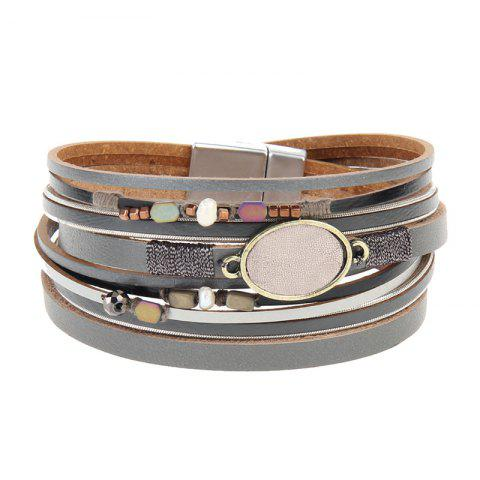 New Hot Selling New Fashion Personality Trend Multilevel Cowhide Coloured Bracelet