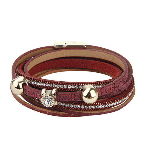 Hot Hot Sale New Fashion Summer Wind Personality Multi Level Two Laps Crystal Hand Chain
