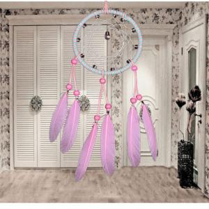 Sweet Pink Crystal Dreamcatcher -